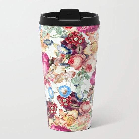 Floral Crush #society6 #decor #buyart Metal Travel Mug