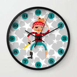 Ahoy pirate! Wall Clock