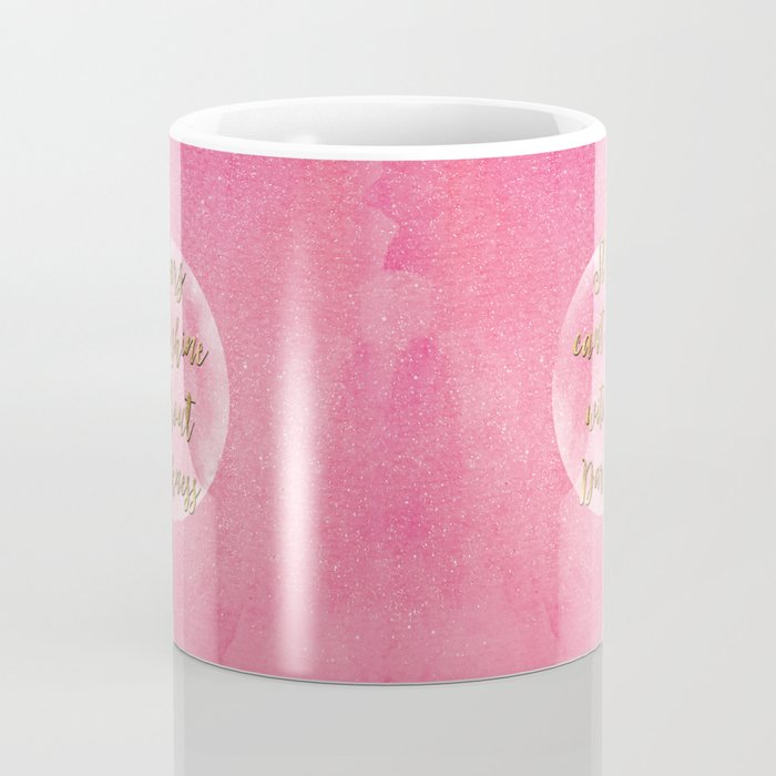 """""""Stars can't shine without darkness"""" quote pink shining watercolor abstract paint Coffee Mug"""