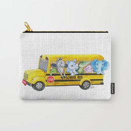 Animal SchoolBus Carry-All Pouch
