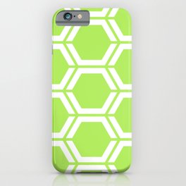 Inchworm - green - Geometric Polygon Pattern iPhone Case
