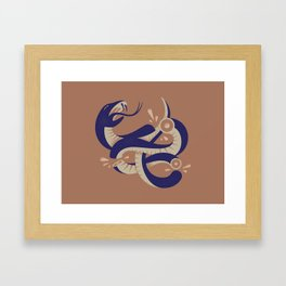 To HELL with the devil! Framed Art Print