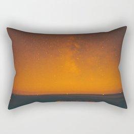 Vintage Sepia Sunset Night Sky Stars Landscape At Night Rectangular Pillow