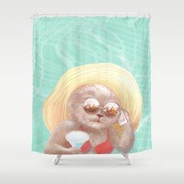 Sunglass Cat Shower Curtain