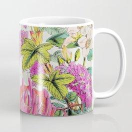 Vintage Bird Floral in Grainy Eggshell Coffee Mug