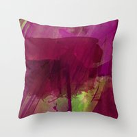 """girly Throw Pillows featuring """"Girly"""" by hayleytheartist"""