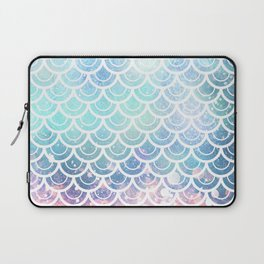 Mermaid Scales Turquoise Pink Sunset Laptop Sleeve