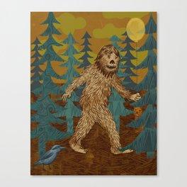 Bigfoot birthday card Canvas Print