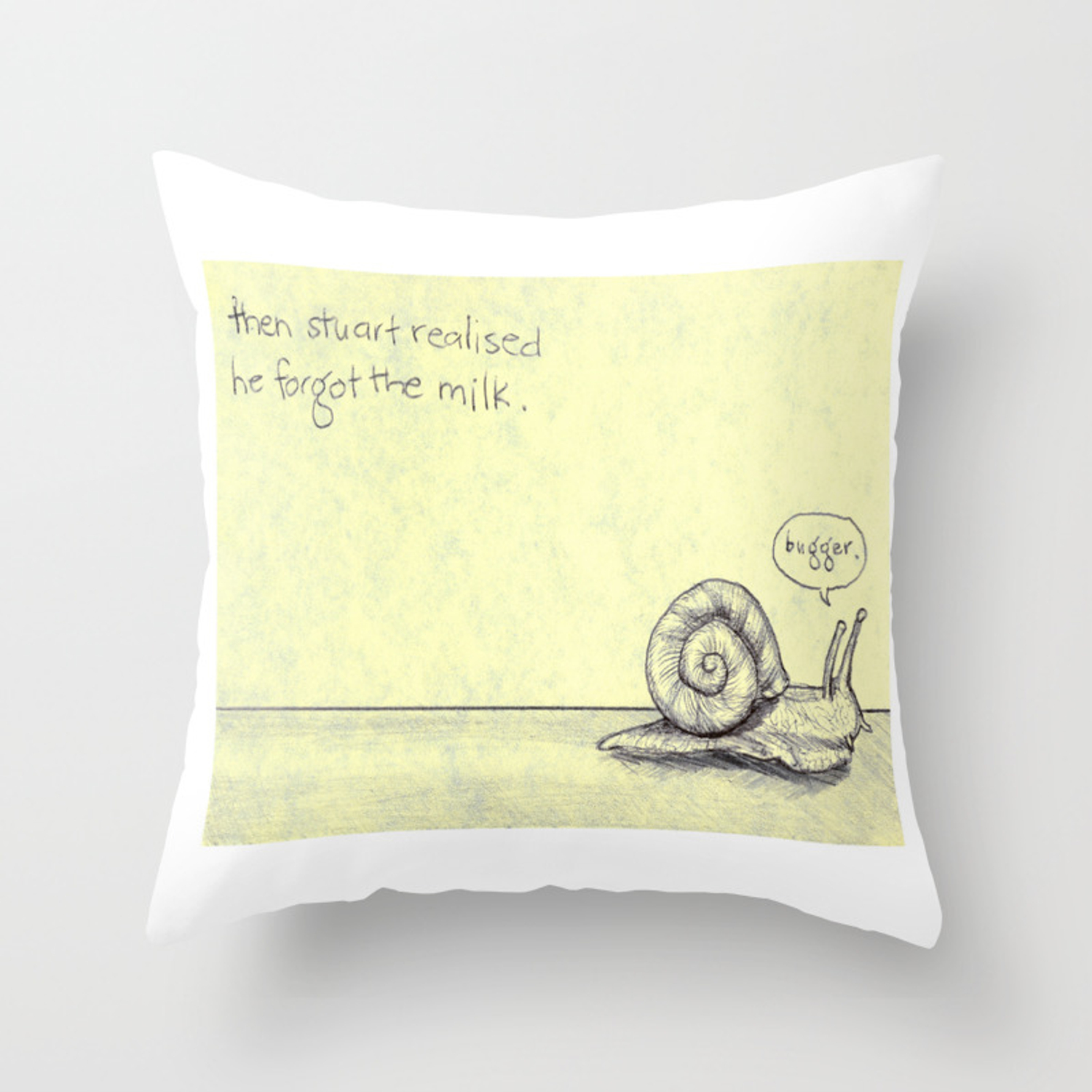Snail Milk Throw Pillow By Jothornely Society6