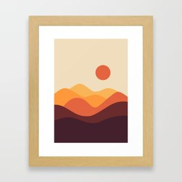Geometric Landscape 21 Framed Art Print