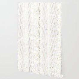 NYC Nights Gold Polka Dot Stripes Wallpaper
