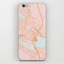 Bergen map, Norway iPhone Skin