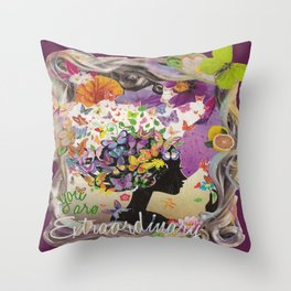 Spiritual Inspirational Extraordinary Encouragement Throw Pillow