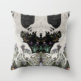 Starry Forest Throw Pillow