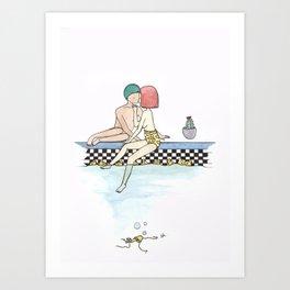 rubber ducky Art Print