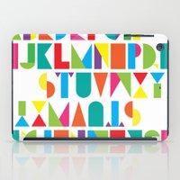 alphabet iPad Cases featuring Alphabet by Rachel Lee