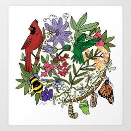 Pollinator's Garden Art Print