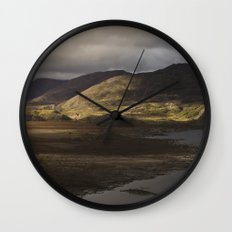 Clouds, Land, Water Wall Clock