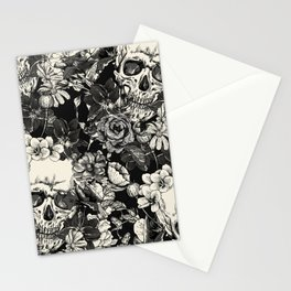 SKULLS HALLOWEEN Stationery Cards