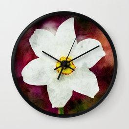 Textured Narcissus. Wall Clock