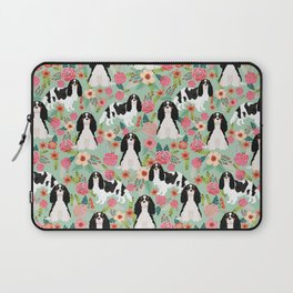 Cavalier King Charles Spaniel floral flowers dog breed pattern dogs mint Laptop Sleeve
