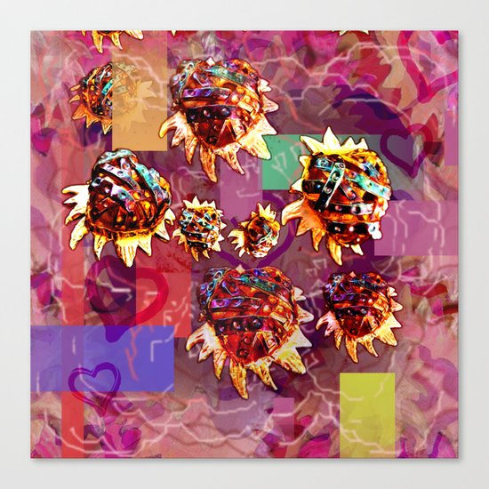 Milagros Heart Falling Canvas Print
