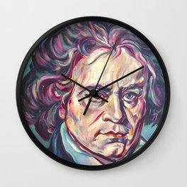 Ludwig van Beethoven, Beethoven's portrait, composer, art print, Wall Clock