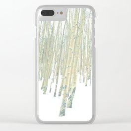 Aspen in the Snow - Vail, Colorado Clear iPhone Case