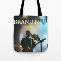 brand new Tote Bags featuring Brand New by ICANWASHAWAY
