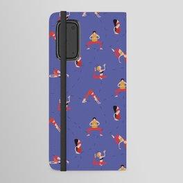 Yoga Girls blue lines Android Wallet Case