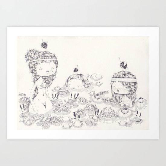 Les Trois Grâces Art Print