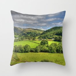 Green and Pleasant Land Throw Pillow