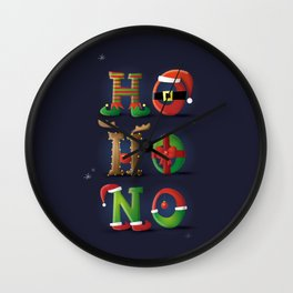 Ho! Ho! No! - Merry Christmas Wall Clock