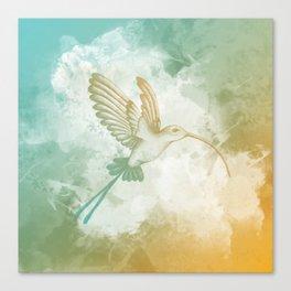 Colorful little bird Canvas Print