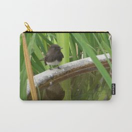 Black Phoebe at the Fountain Carry-All Pouch