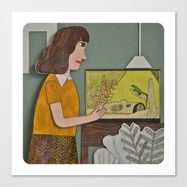 Lizard is my Friend  Canvas Print