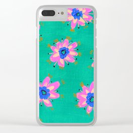 Key West Rose Clear iPhone Case