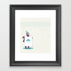 It's raining. Framed Art Print