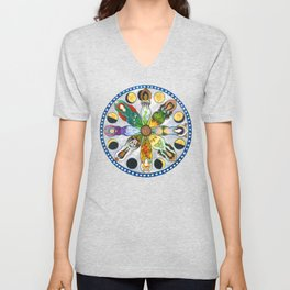 Wheel of the Year Goddess Mandala Unisex V-Neck