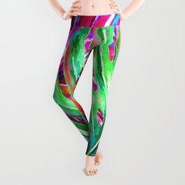 Colorful monstera illustration Leggings
