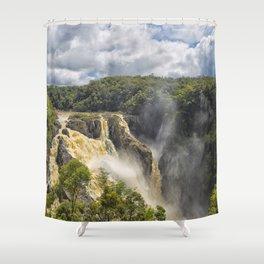 Beautiful wild waterfall Shower Curtain