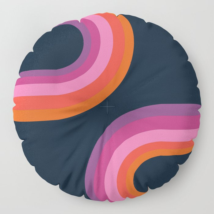 Hip - retro minimal 70s style throwback vibes 1970's art minimalist decor Floor Pillow