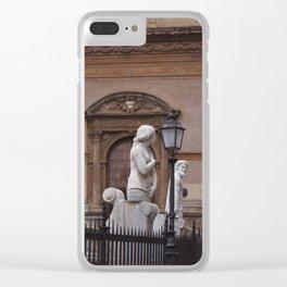 Piazza Pretoria Pink Facades - Palermo, Italy Clear iPhone Case