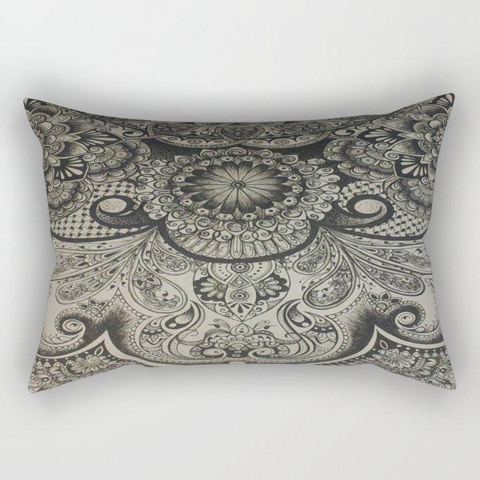Close up Design Work Rectangular Pillow