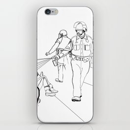Pepper Spray(Illustration for Police Brutality Coloring Book) iPhone Skin