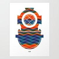 scuba Art Prints featuring Scuba Collor by Guilherme Rosa // Velvia