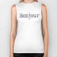 bonjour Biker Tanks featuring Bonjour by Bridget Davidson
