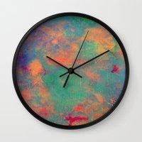 batik Wall Clocks featuring batik by Camila Rodrigué
