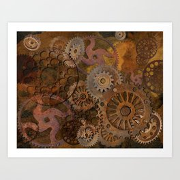 Changing Gear - Steampunk Gears & Cogs Art Print