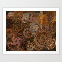 Changing Gear - Steampunk Gears & Cogs Art Print